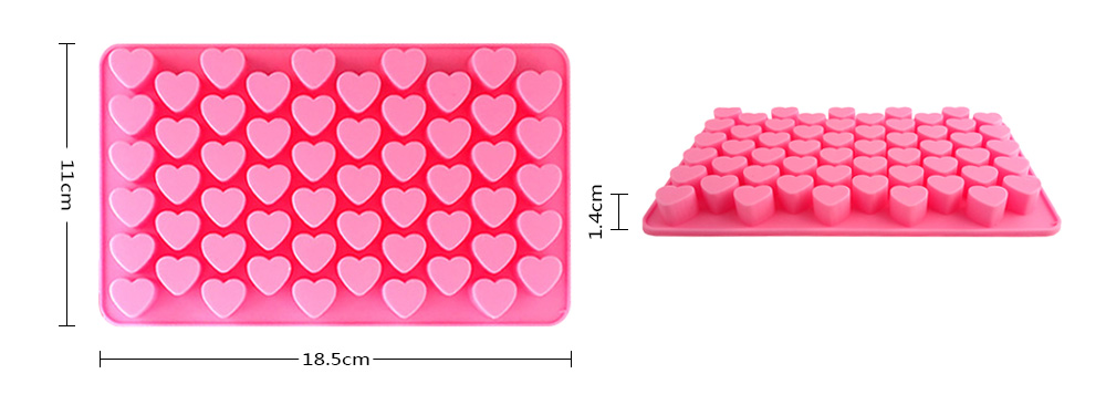MCYH Multifunctional Heart Shape Silicone Chocolate Molds for Fondant Cake Decoration 2PCS