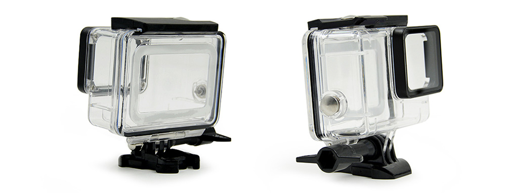 Waterproof Case Housing with Float Sponge for Underwater Sport Action Camera