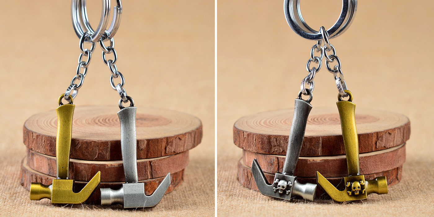 Creative Hammer Style Key Chain for Decoration