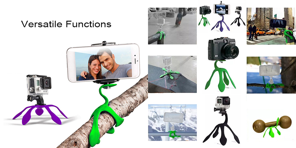 Creative Multi-color Gecko Design Mount Holder Cradle for GoPro Action Camera