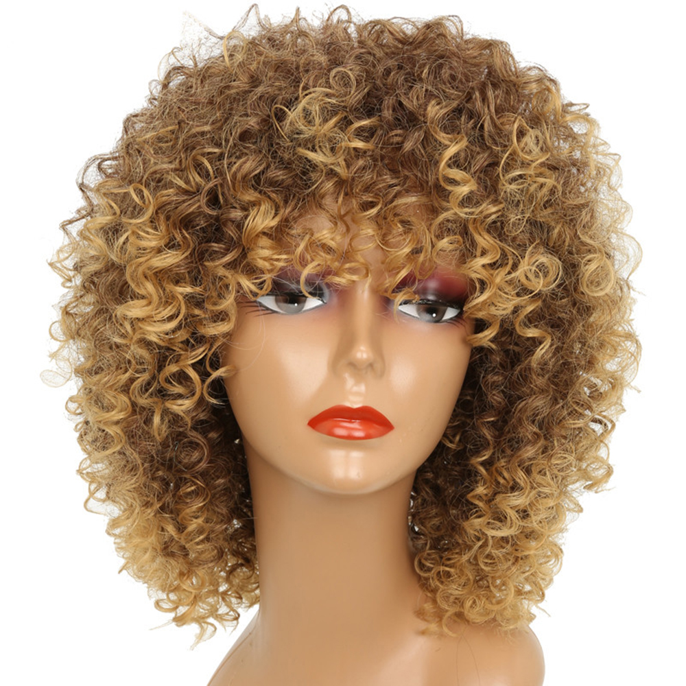 Synthetic Hair Wigs Wigs For African American Women Short Curly Wig Blonde Color Wig Women S Wig Wig Golden Synthetic Wigs Sale Price Reviews Gearbest