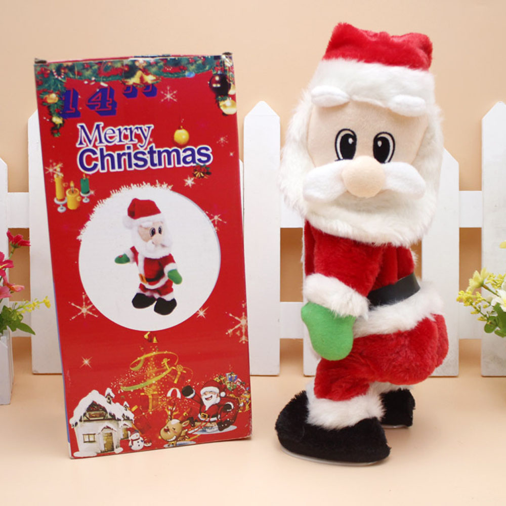 Christmas Holiday Gift Santa Claus with Music Electric Twisted Body