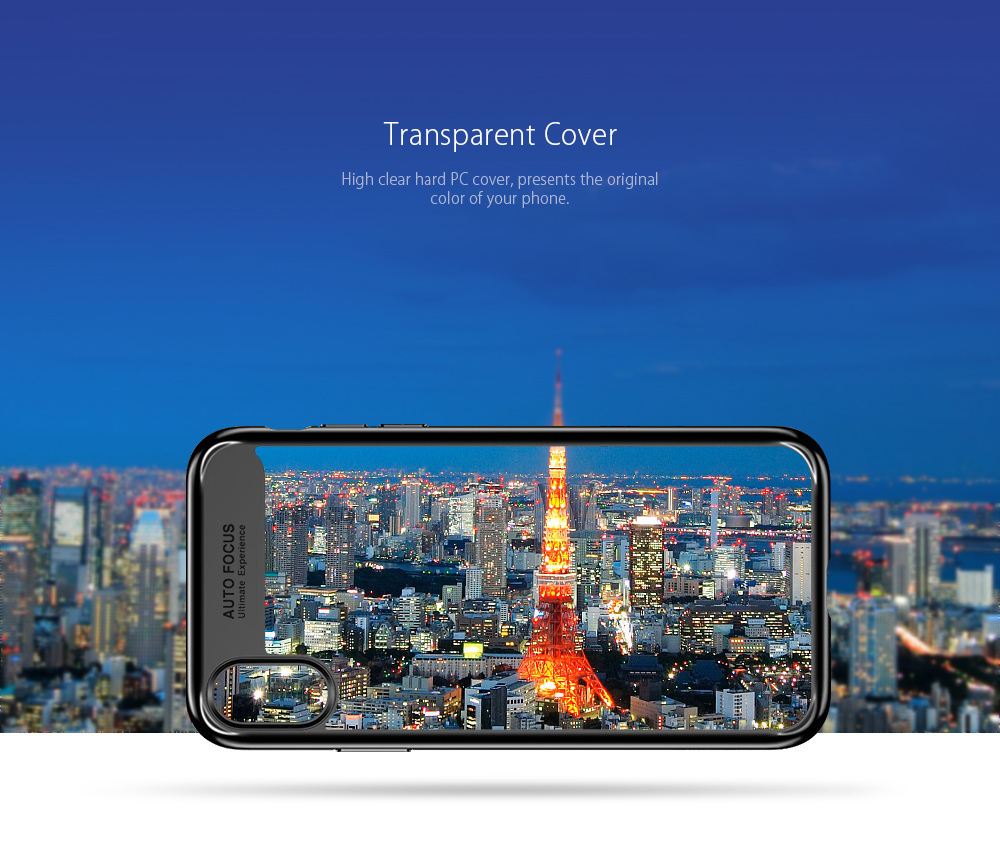 Phone Case for iPhone X Transparent PC TPU Silicone Cover