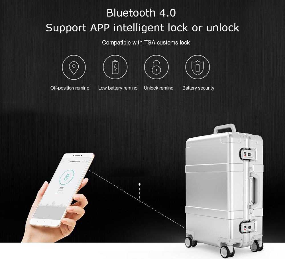 Xiaomi 20 inch Smart Bluetooth 4.0 Metal Travel Suitcase