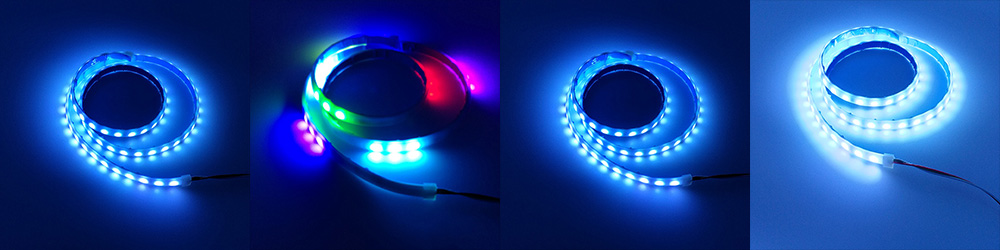 Colorful LED Strip Rear Lamp Trunk Tail Brake Flow Type