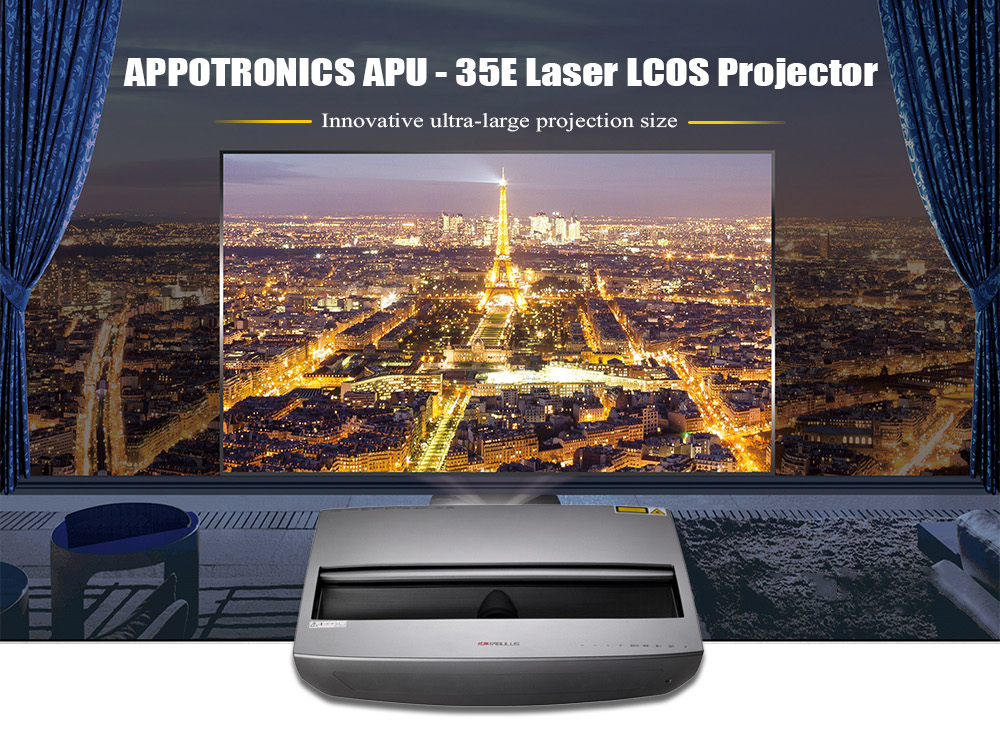 APPOTRONICS APU - 35E Laser LCOS Projector 1920 x 1080 Pixel / Support 4K for Home Theater