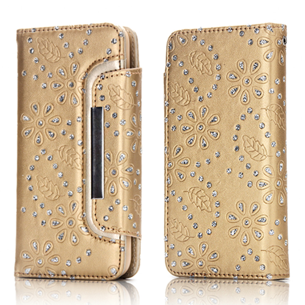 2 in 1 Magnetic Detachable Glitter Pigment Phone Case for iPhone 7  / 8