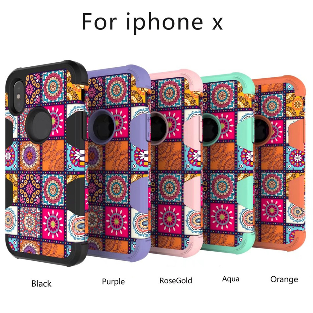 TPU + PC + Silicone Triad Following From National Wind Scratchable Latex Environmental Protection Materials for iPhone X