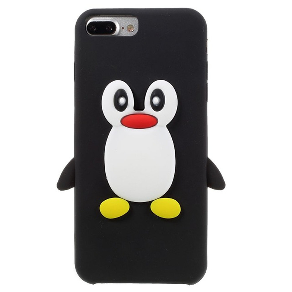Case For iPhone 8 Plus  / 7 Plus Pattern Back Cover Cartoon Penguin Soft Silicone