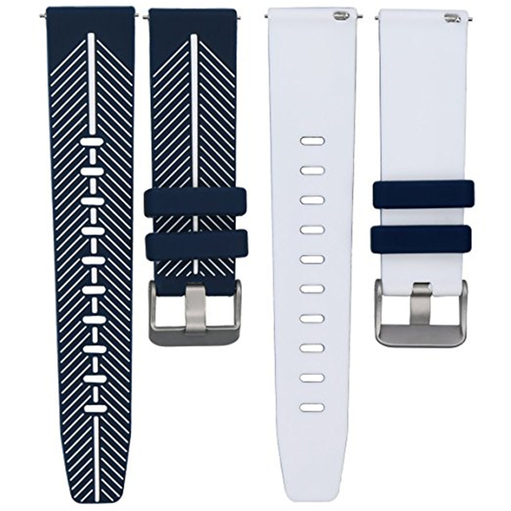 22mm Quick Release Watch Band Double Color Silicone Rubber Wrist Samsung Gear S3 Frontier Side Strap Only For Classic
