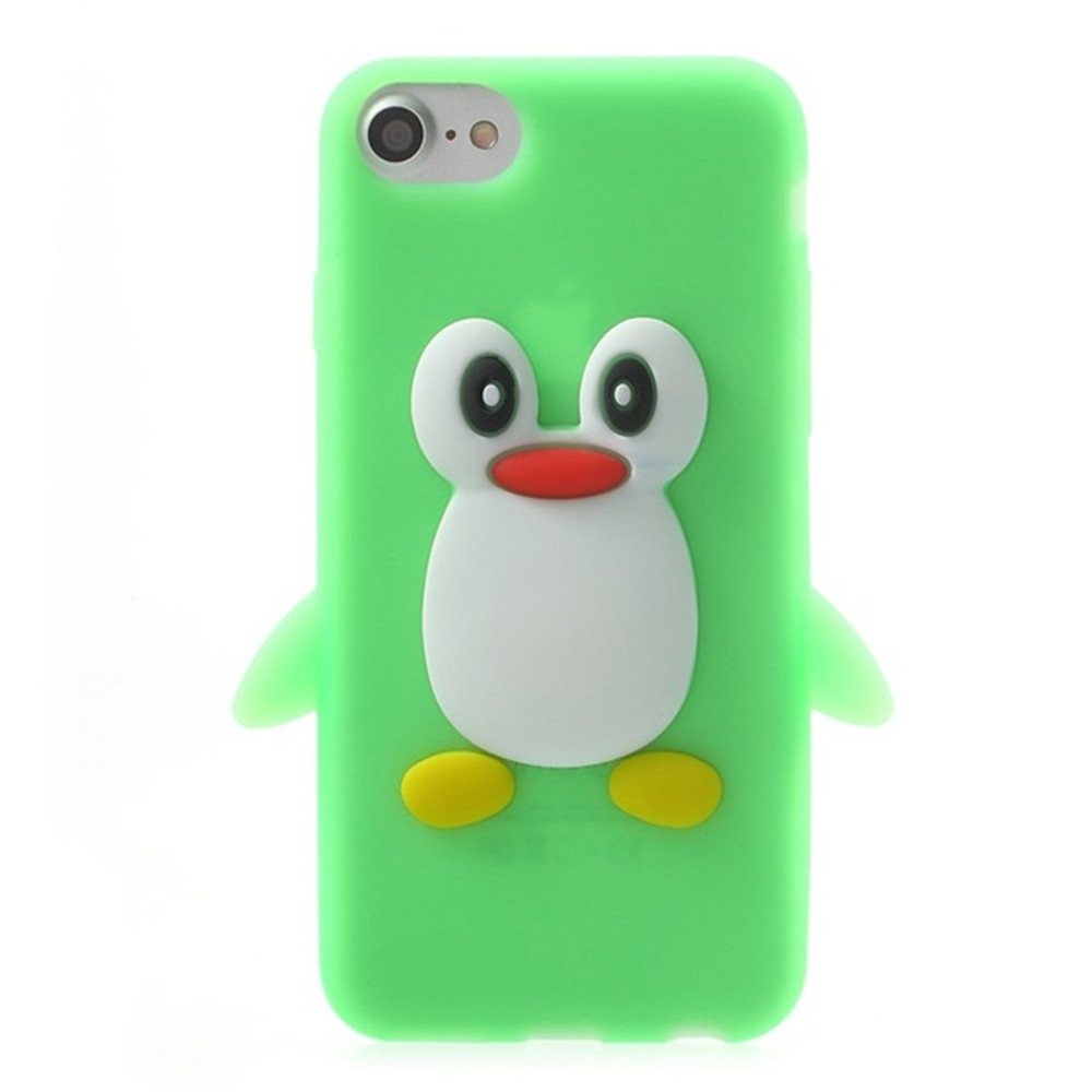 Case For iPhone 8 / 7 Pattern Back Cover Cartoon Penguin Soft ...