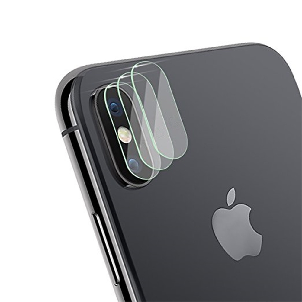 Tempered Glass Protector Full Cover Protection for iPhone X Back Rear Camera Lens Screen Clear Protective Film Guard
