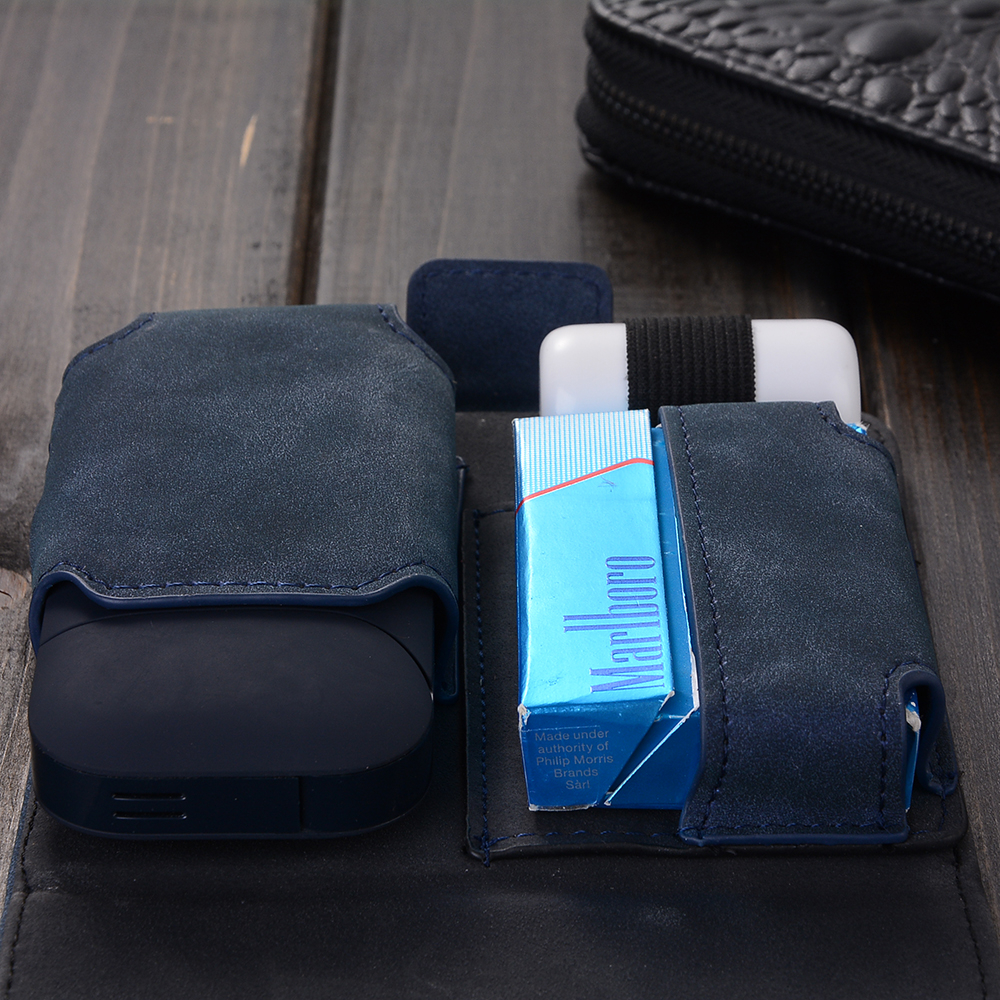 PU Leather Box Holder Storage  Electronic Cigarette Accessories Carrying Case for iQOS