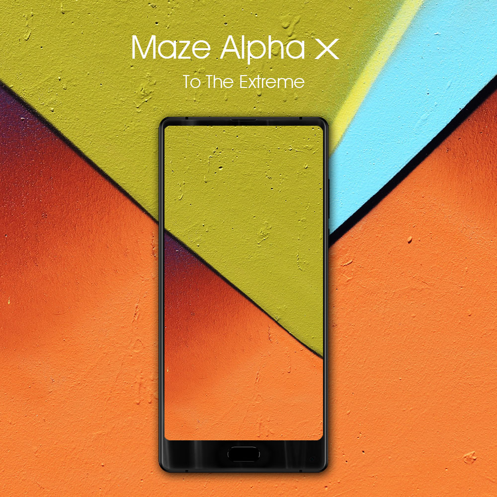 MAZE Alpha X 4G Phablet Andoid 7.0 6.0 inch MTK6757 Octa Core 2.5GHz 6GB RAM 128GB ROM Full Screen Fingerprint Scanner