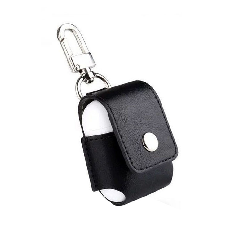 For IPhone AirPods Case Bluetooth Wireless Headset Leather Key Chain
