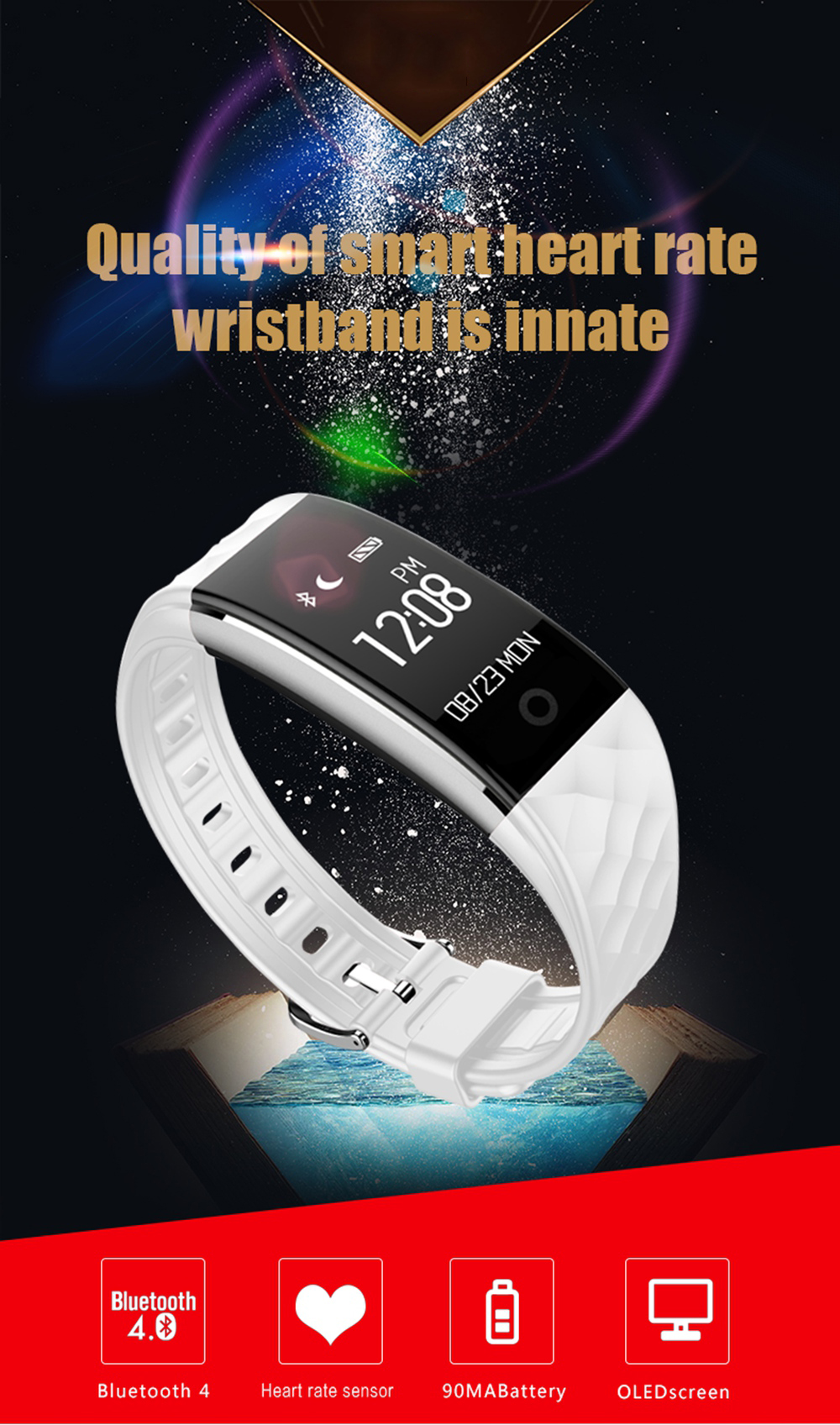 Fitness Tracker St10 Smart Wristband Bracelet IP67 Waterproof Wireless Bluetooth Call Remind Auto Sleep Monitor Sport Pedometer Activity Tracker for Android IOS Phones