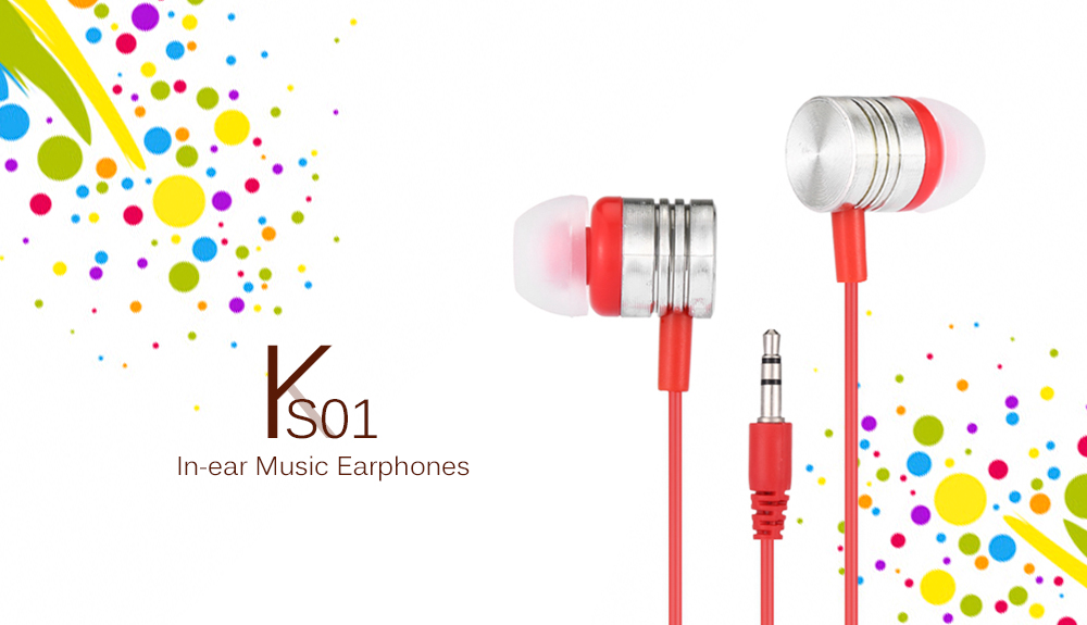 KS01 In-ear Music Earphones Transparent Crystal Wire Design for 3.5mm Audio Interface Device