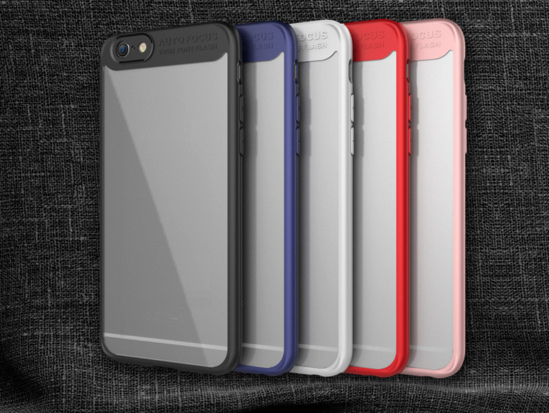 Transparent PC TPU Silicone Cover Case for iPhone 6 / 6S