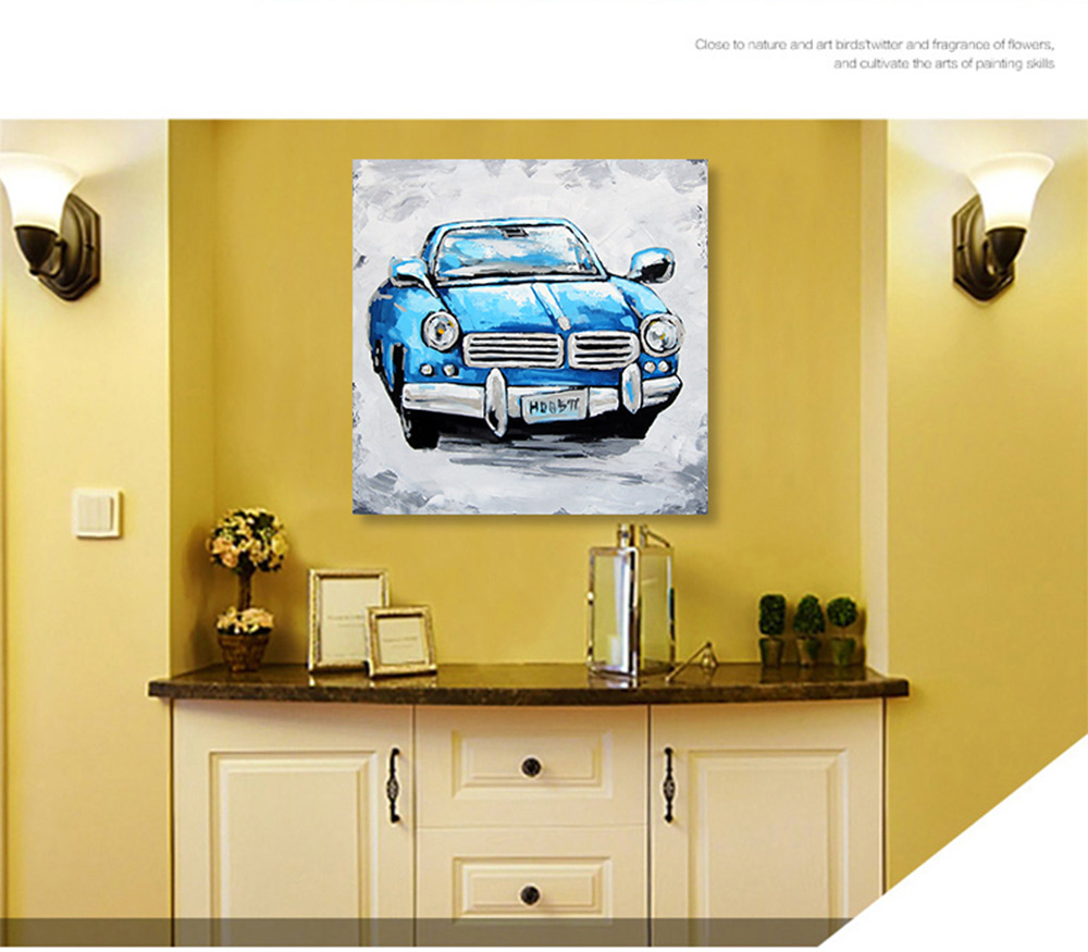 XiangYunChengFeng Automobile Pattern Canvas Oil Painting for Wall ...
