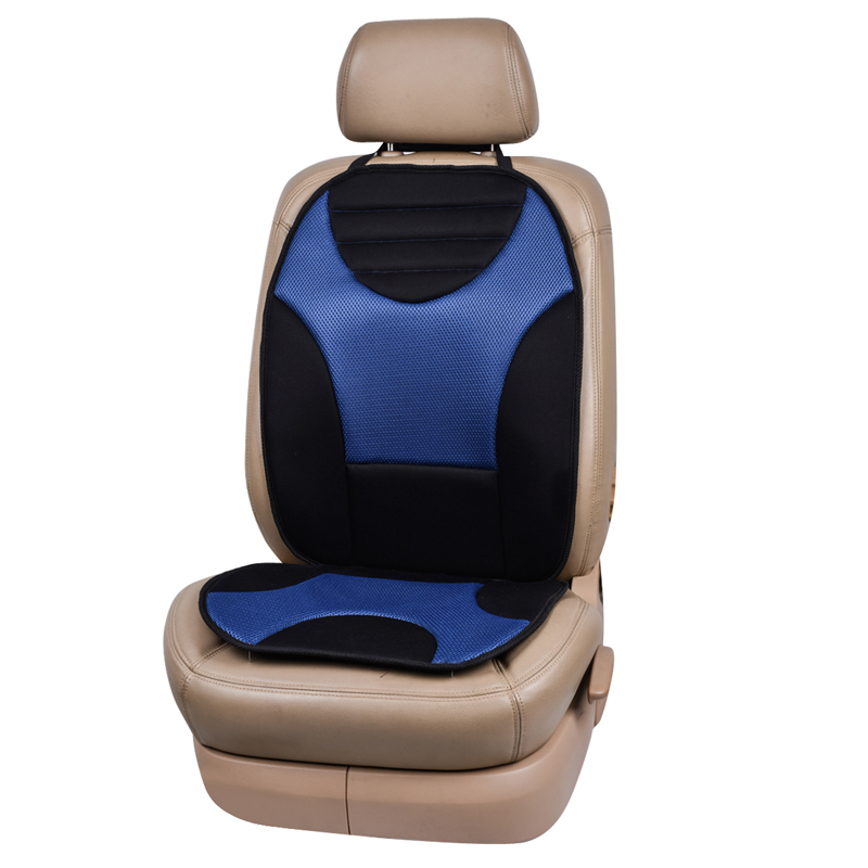 Mesh Fabric Blue Car Seat Cushion