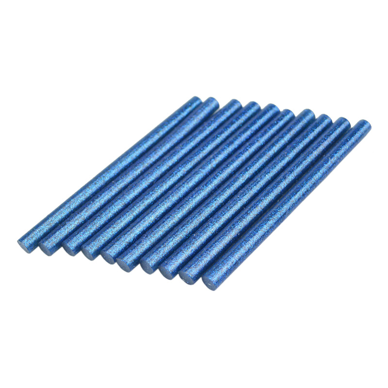 10 Pcs Blue with Star 7X100MM Hot Melt Glue Stick 7MM DIY Multi-Function Repair Tool