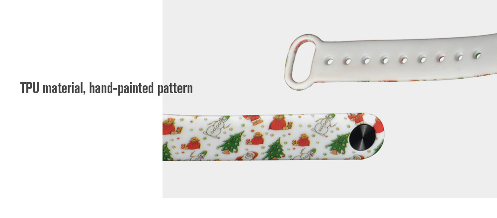 Christmas  Subject Hand-painted Replacement Wristband for Xiaomi Mi Band 2