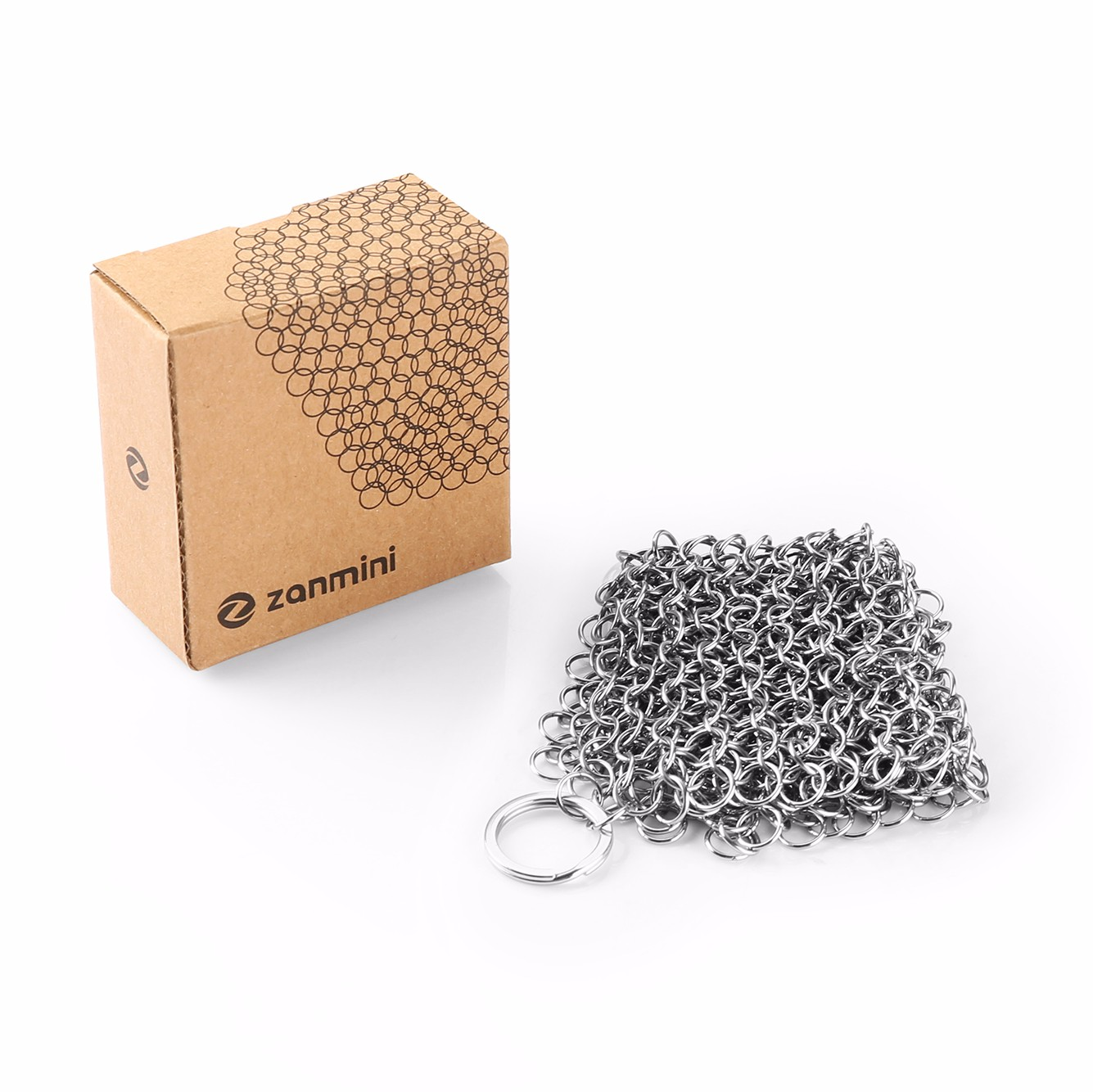 zanmini ZH06 Hexagon Stainless Steel Chainmail Scrubber