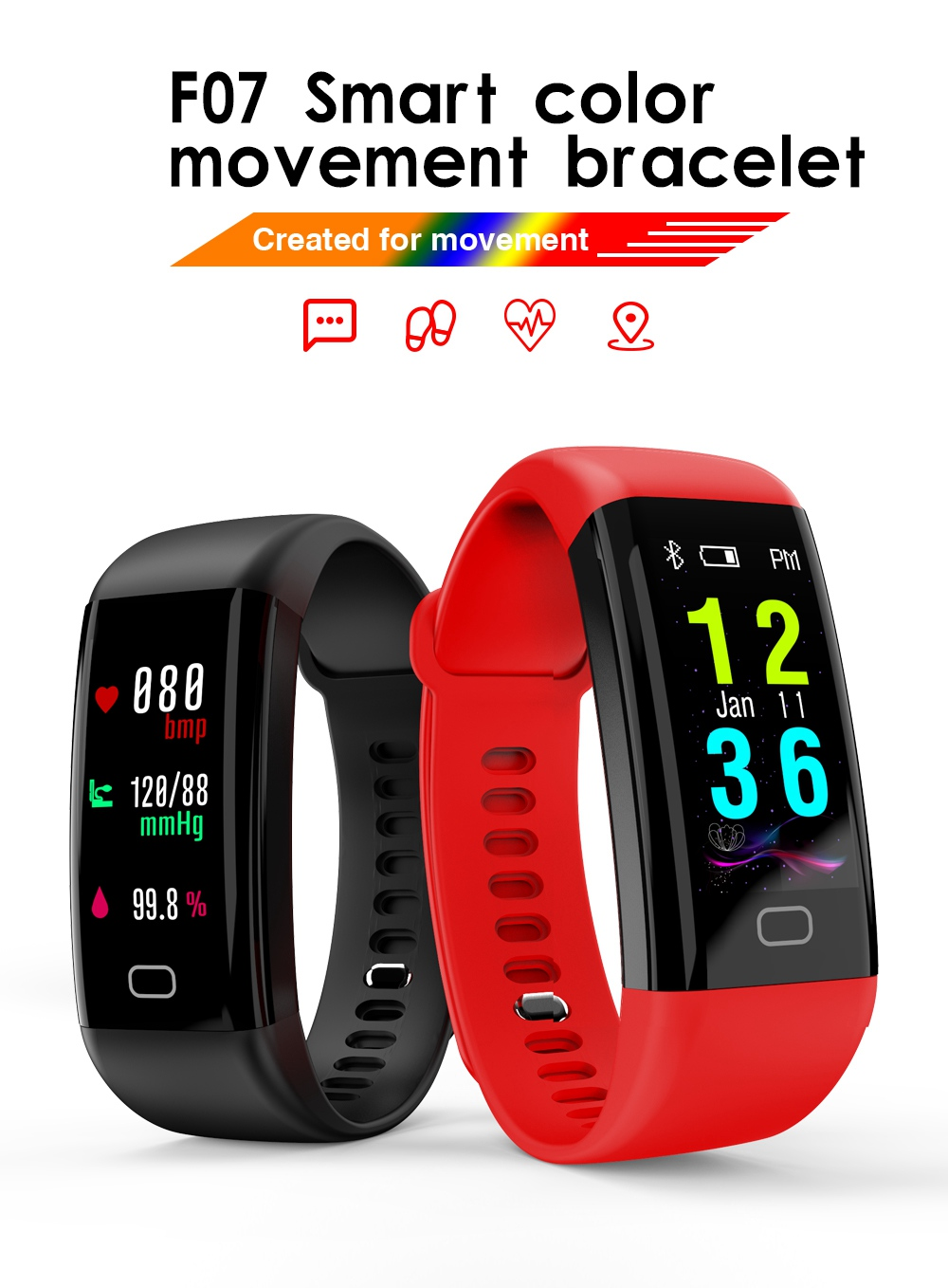 ST13 0.96 inch Fitness Tracker Activity Wristband Bluetooth Wireless Smart Bracelet Waterproof Pedometer