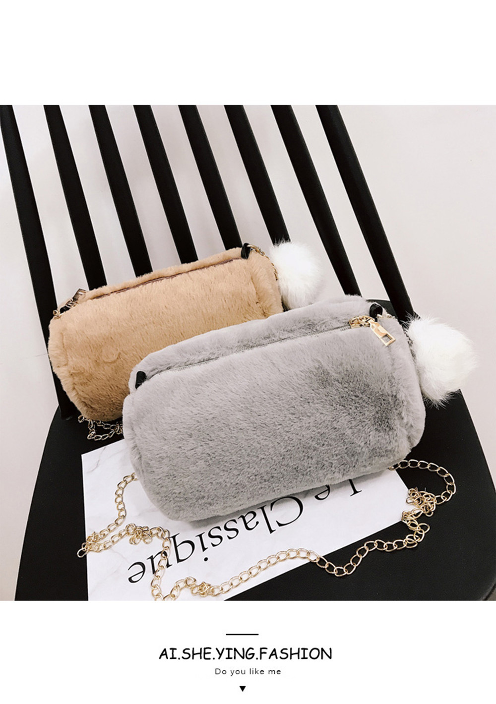 40cf3fe10c New Plush Wild Messenger Shoulder Bag Fluffy Handbags -  10.12 Free ...