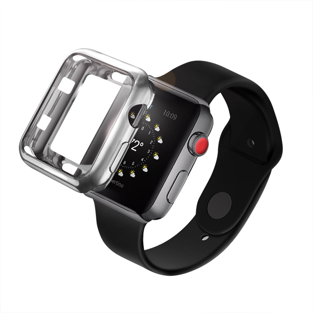 on sale 22051 78fa5 42mm TPU Protective Case for iWatch Series 3 / 2 / 1 Plating Cover Shell  Bumper Case Protector
