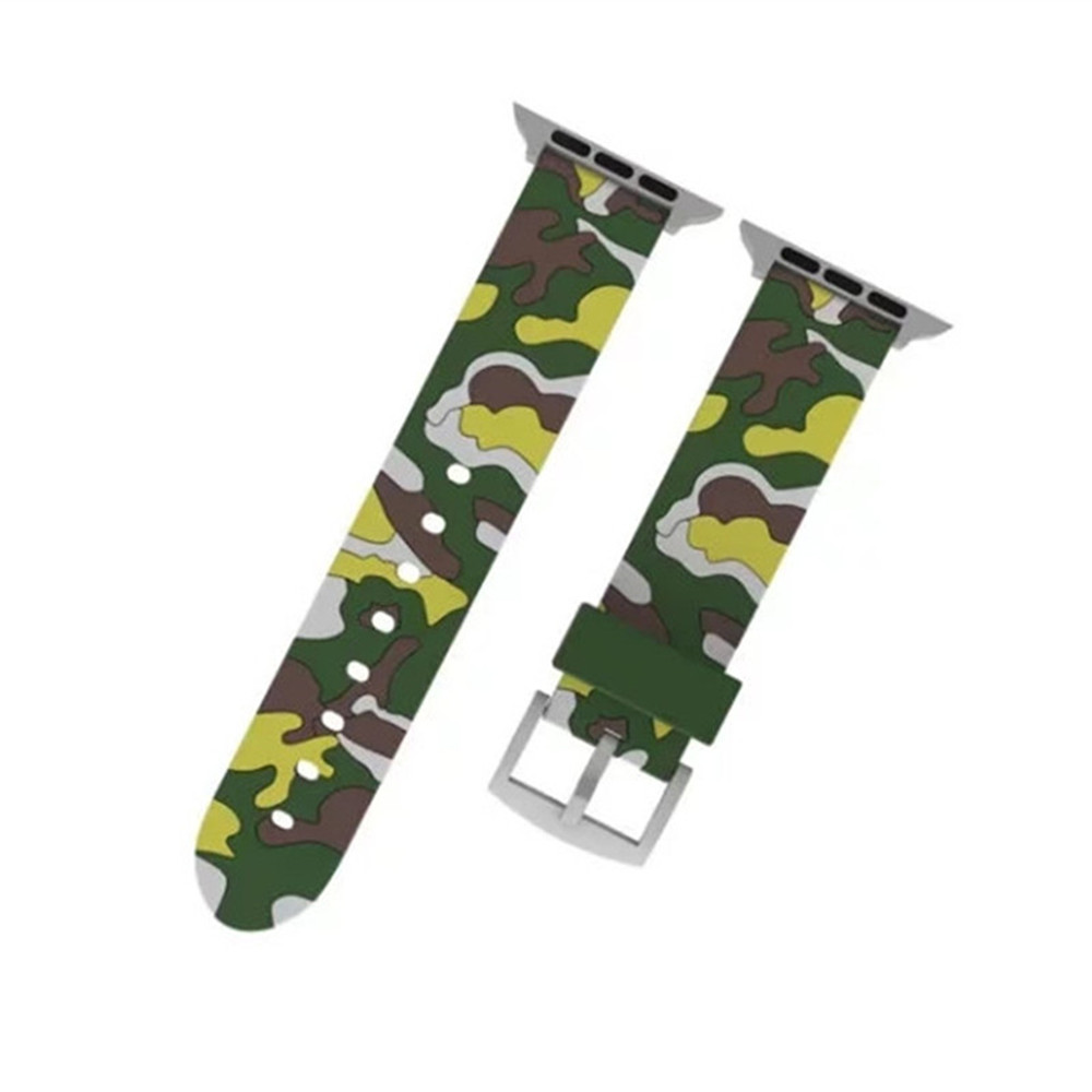 Camouflage Sport Loop 42mm with Soft Silicone Rubber Watch Strap for ...