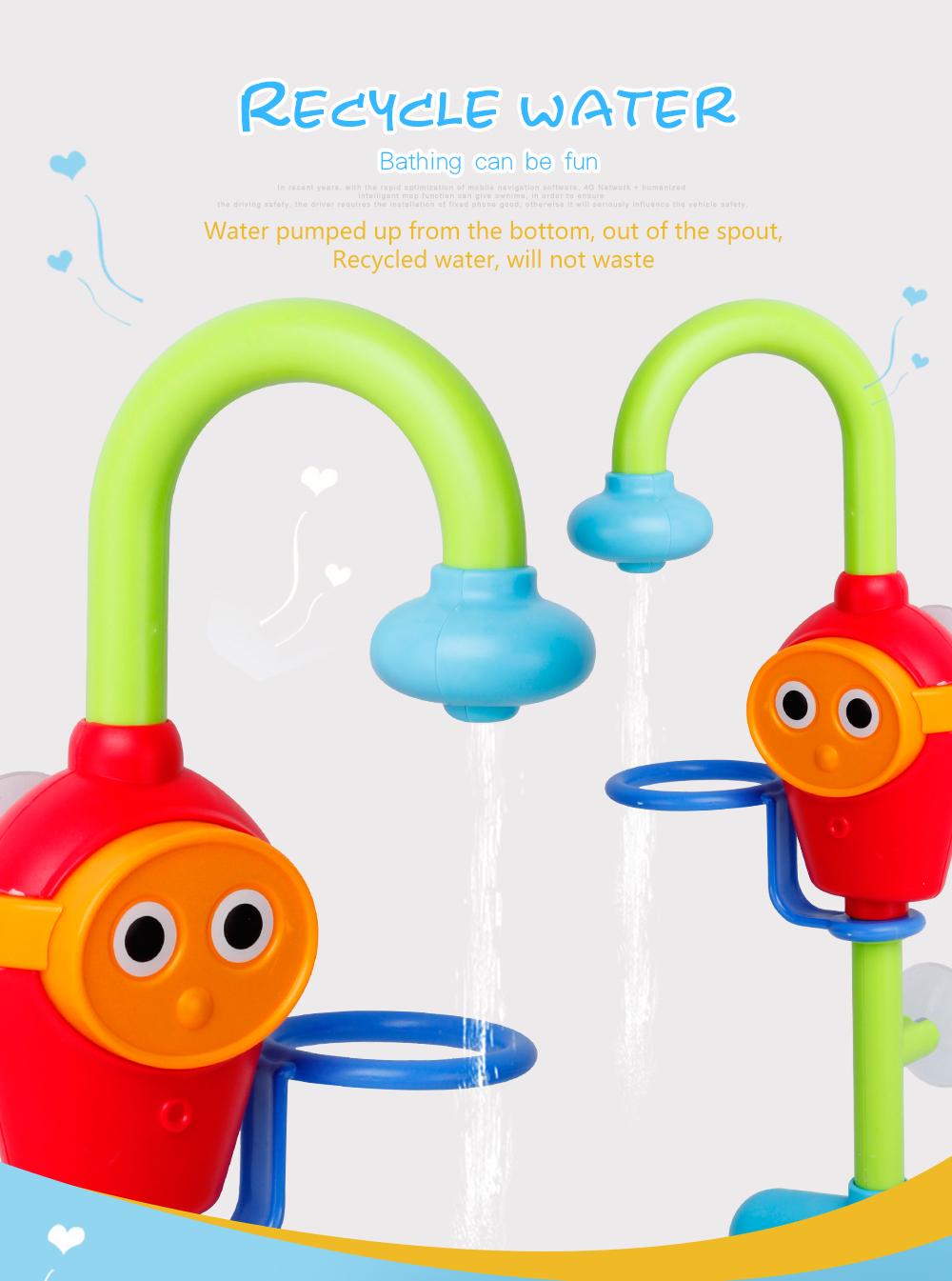 Children battery faucet bath toys Water toys under 36 months for ...