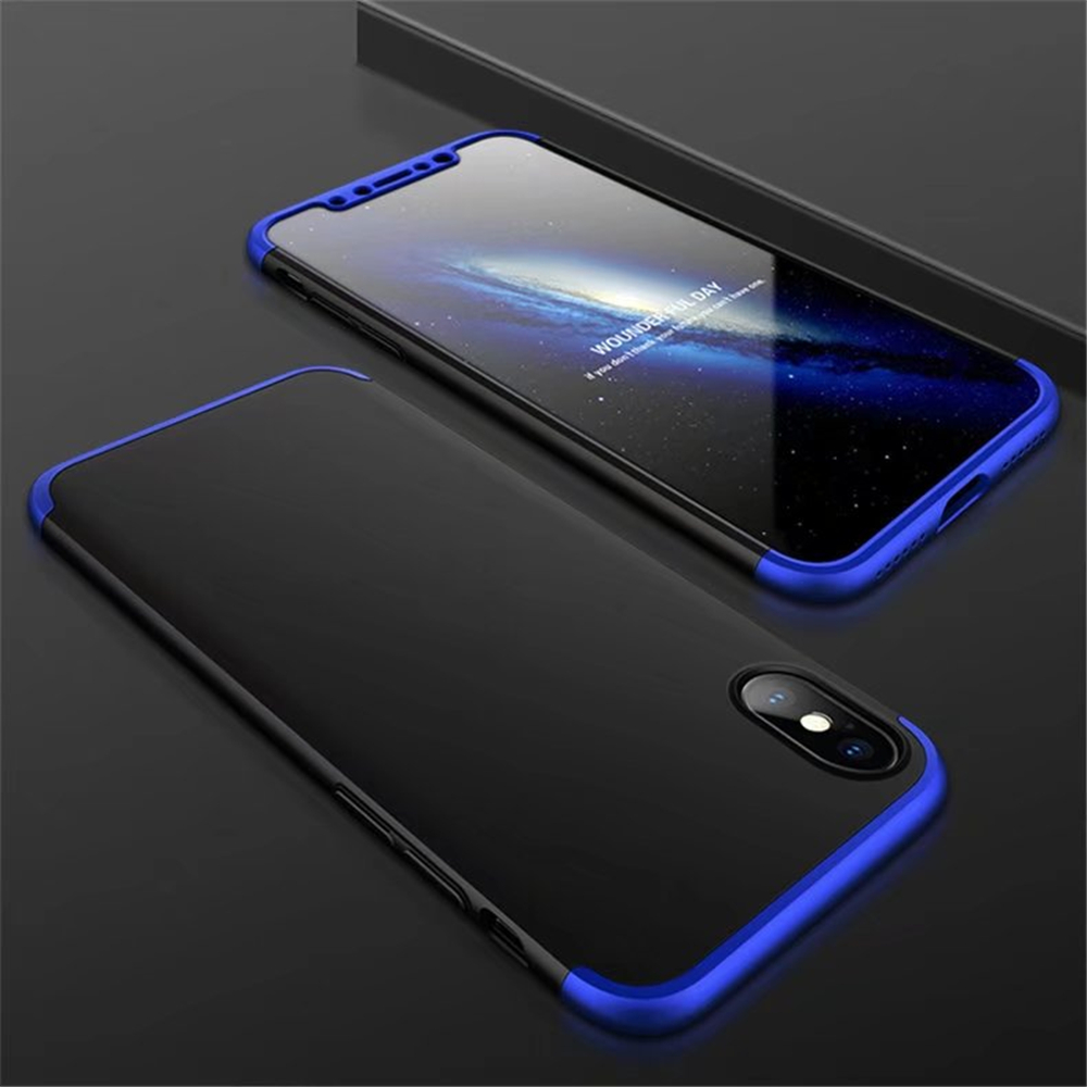 3 in 1 Hybrid Hard Plastic Ultra Thin and Slim Anti-scratch Matte Finish Cover Case for  iPhone X