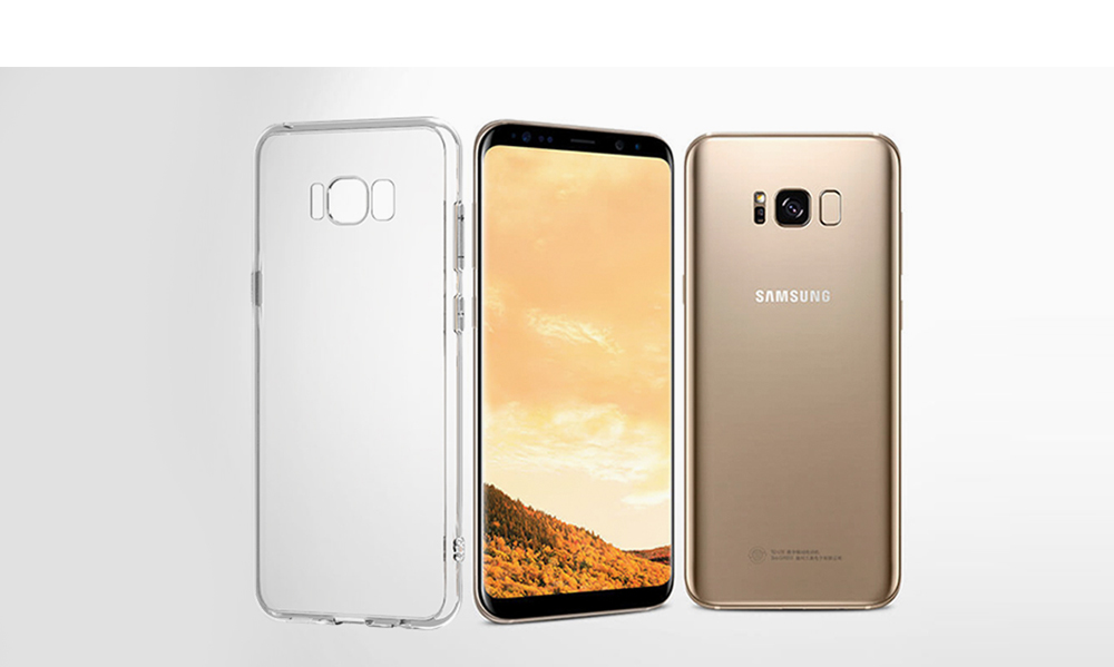 Transparent Clear Protective Case for Samsung Galaxy S8
