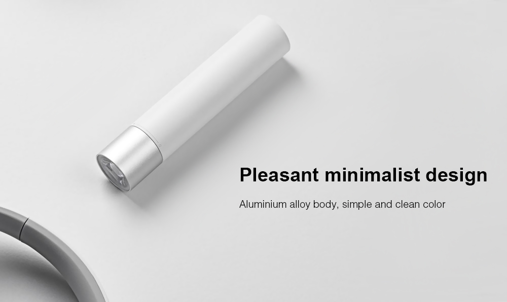 Xiaomi LED 240Lm Minimalist Design Portable Flashlight with Built-in Lithium-ion Battery ( 3350mAh )- White
