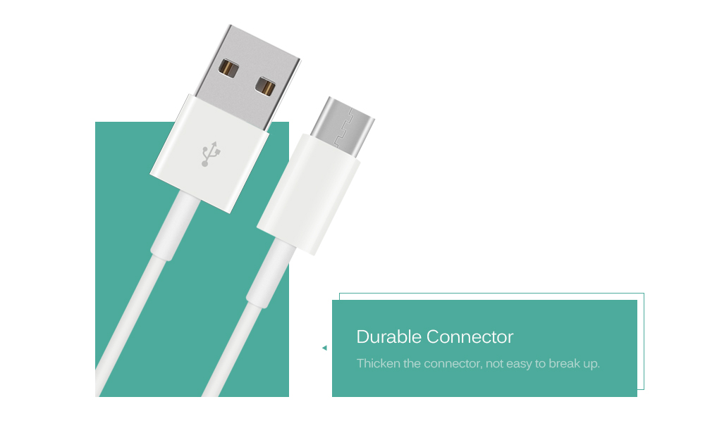 Mini Smile Fast Speed USB 3.1 Type-C Male to USB 2.0 Cable for Data Transfer and Charging 100CM