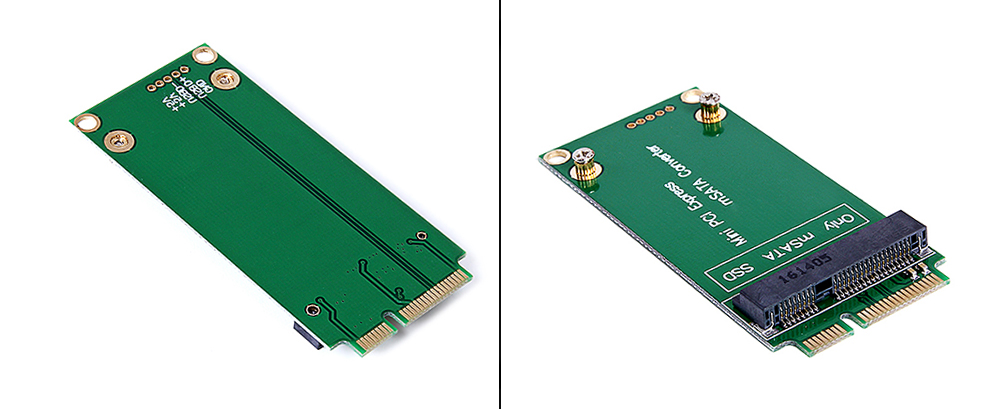 High-performance mSATA to SATA Mini PCI - E SSD Adapter Converter Card