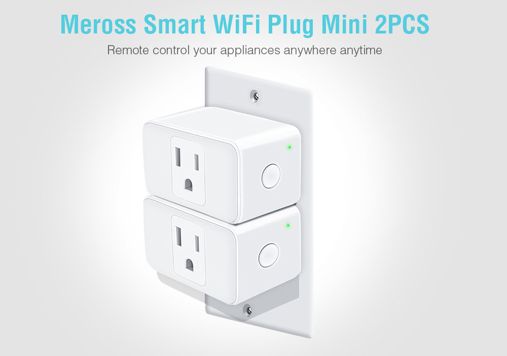 Meross Smart WiFi Plug Mini 2PCS