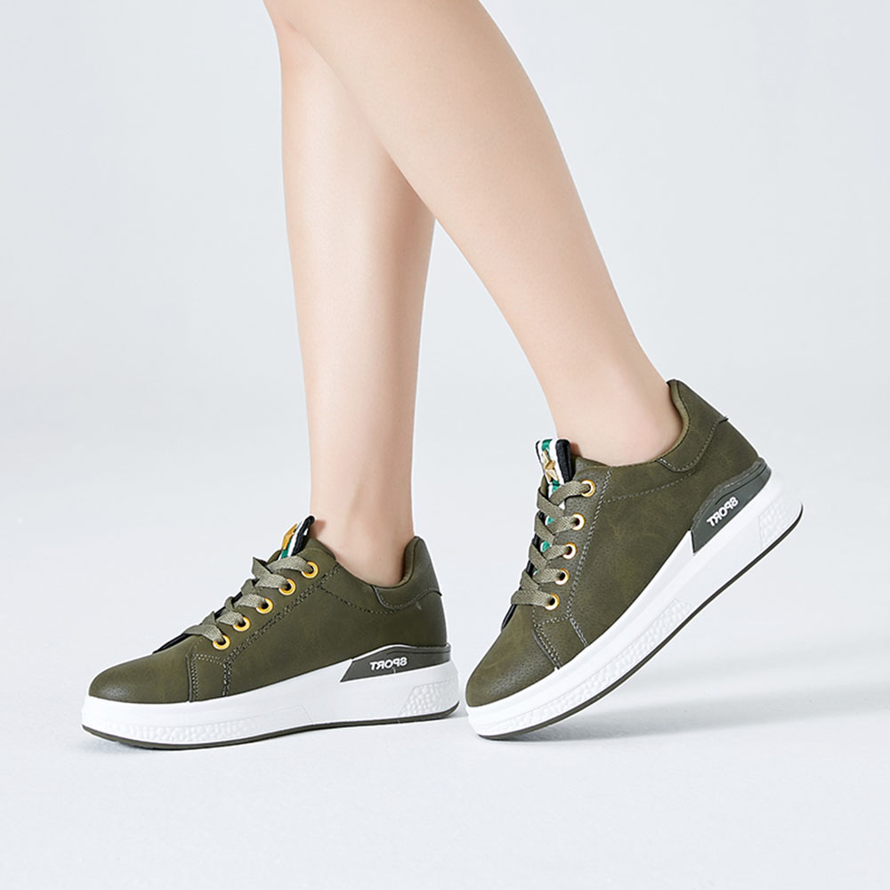 Women New Casual Lace Up Thick Bottom Athletic Shoes