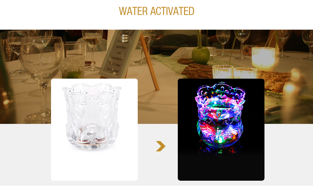 LED Flash Cup Water Inductive Color Changing Beer Whisky Shot Glass Mug Bar Club Party Drinkware- Transparent Simple Design