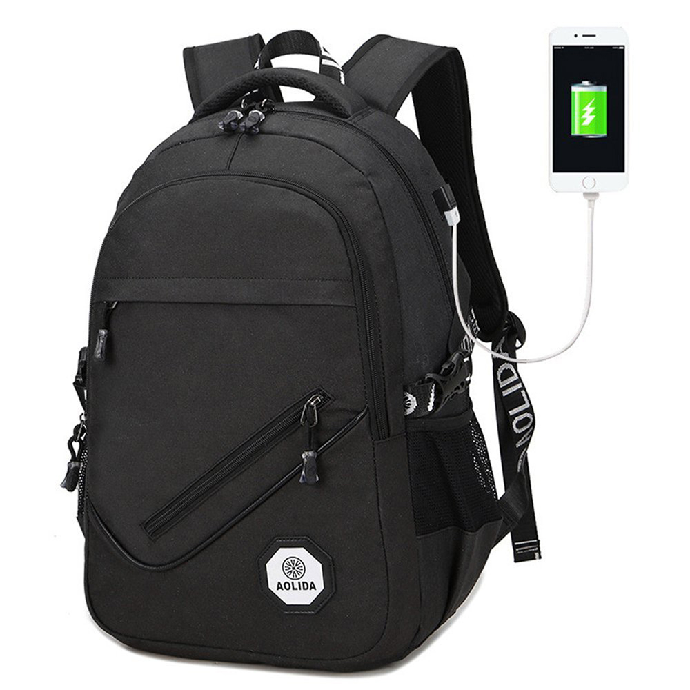 Aolida 8081 Fashion Design Backpack with USB Charging Cable Travel ... 118cb79a7a274
