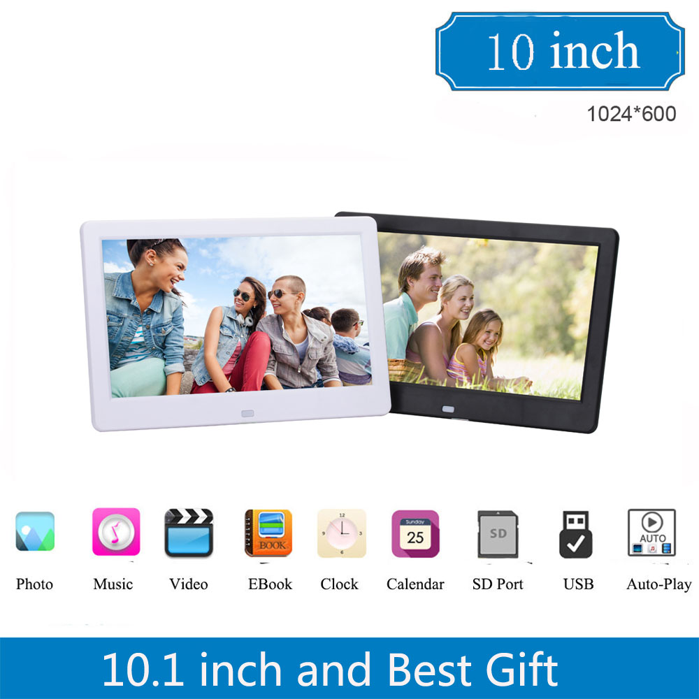 10 inch HD 1024 × 600 Digital Photo Frame with MP3 MP4 Function ...