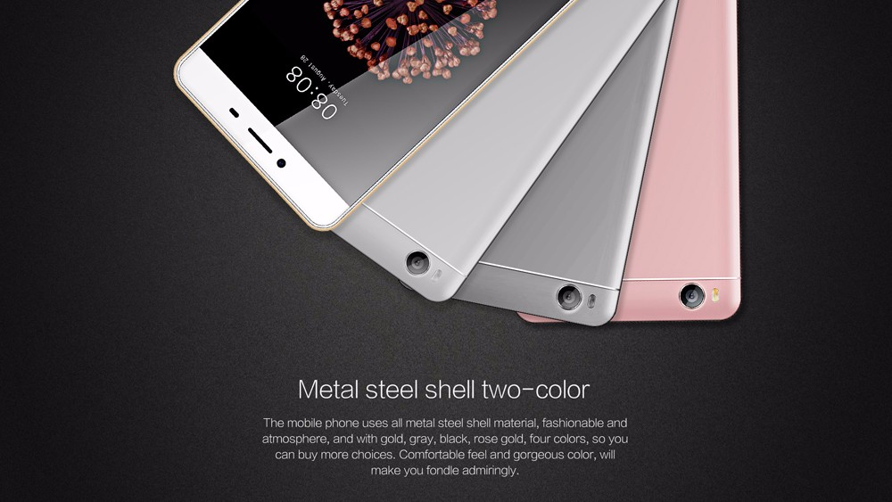 Ken Xin Da S8 4G Smartphone 5.0 inch Display Android 7.0 MTK6737 Quad Core 1.5GHz 2GB RAM 16GB ROM Fingerprint Recognition