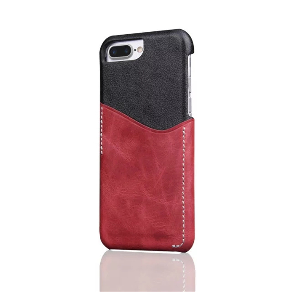 For iPhone 8 Plus / 7 Plus / 6 Plus Luxury Leather with Card Mobile Phone Shell  Fitted Case