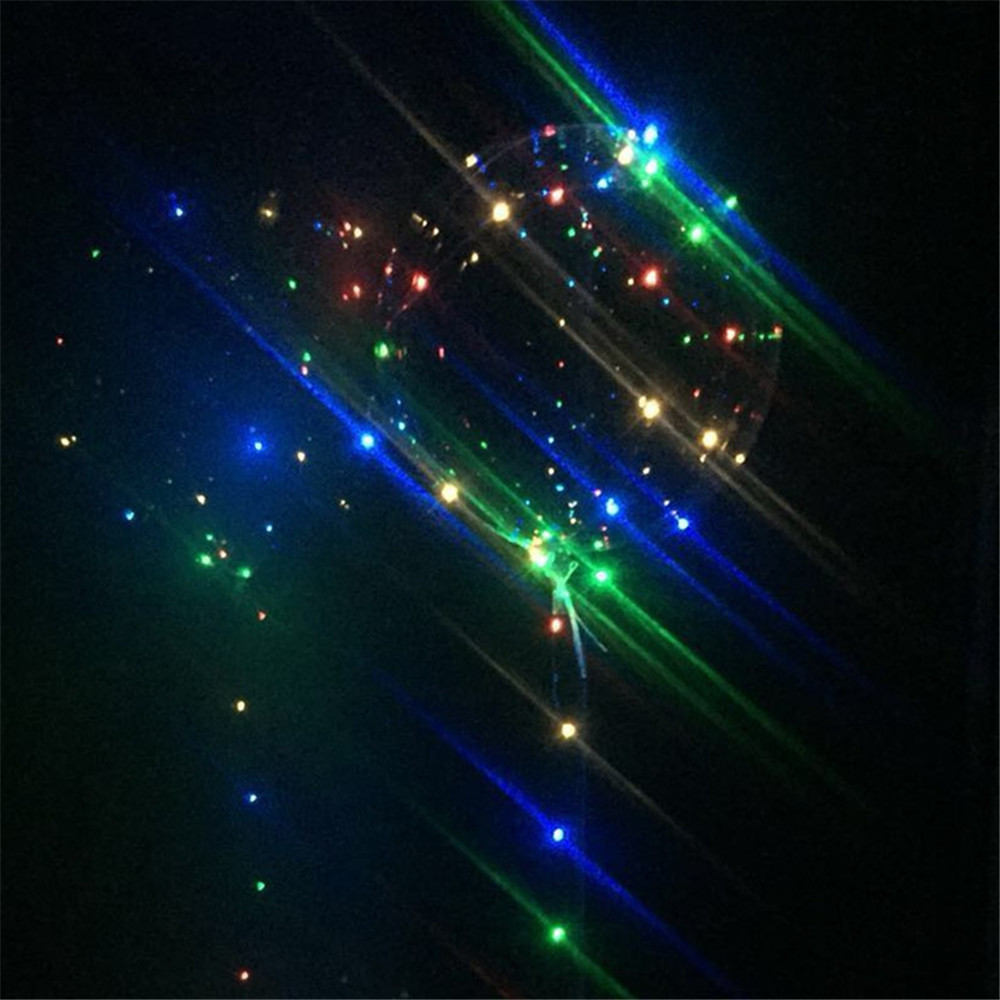 Christmas Party Balloons LED Lights Up 3 PCS BOBO Transparent Colorful Flash String Decorations City Wedding Home Cour