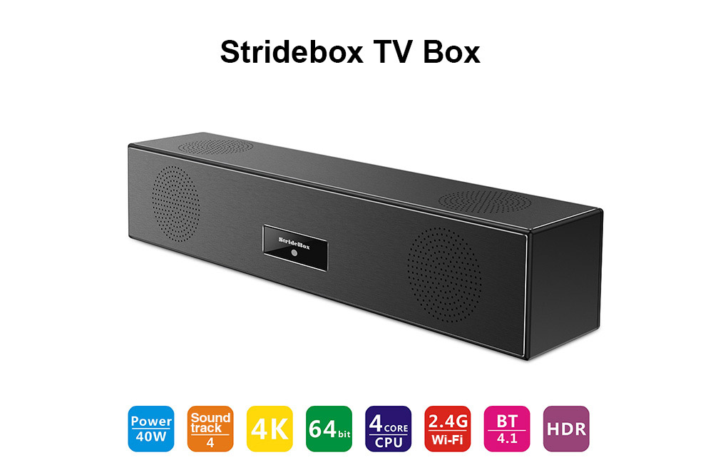 Stridebox Z1 PRO TV Box Amlogic S905X Quad Core 64-bit / 2GB RAM + 16GB ROM / Andriod 7.1 / BT4.1 / 100Mbps / 2.4G Wi-Fi
