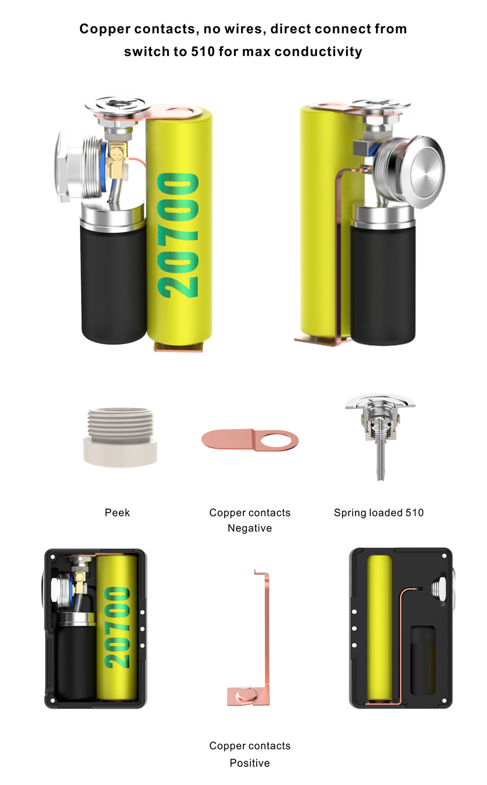 Vandy Vape Pulse Bf Kit For E Cigarette 4215 Free Shipping Cig Mod Wiring Diagram Picture With 2ml Rda White