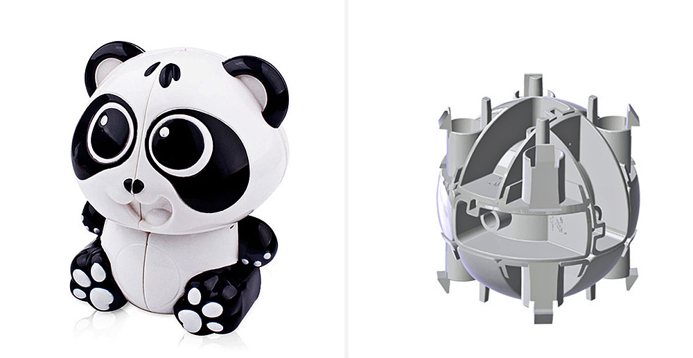 Lovely Panda Style 2 x 2 Magic Cube Pressure Reducing Toy