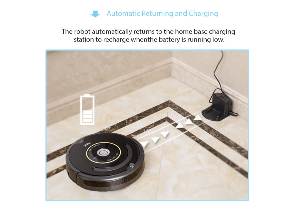 iRobot Roomba 664 Vacuum Cleaning Robot Automatic Recharging- Black Two Pin US Plug