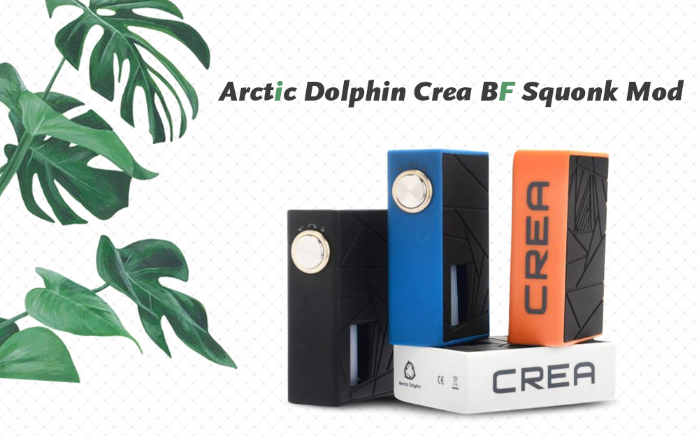 Arctic Dolphin Crea BF Squonk Mod Supporting 1pc 18650 Battery for E Cigarette